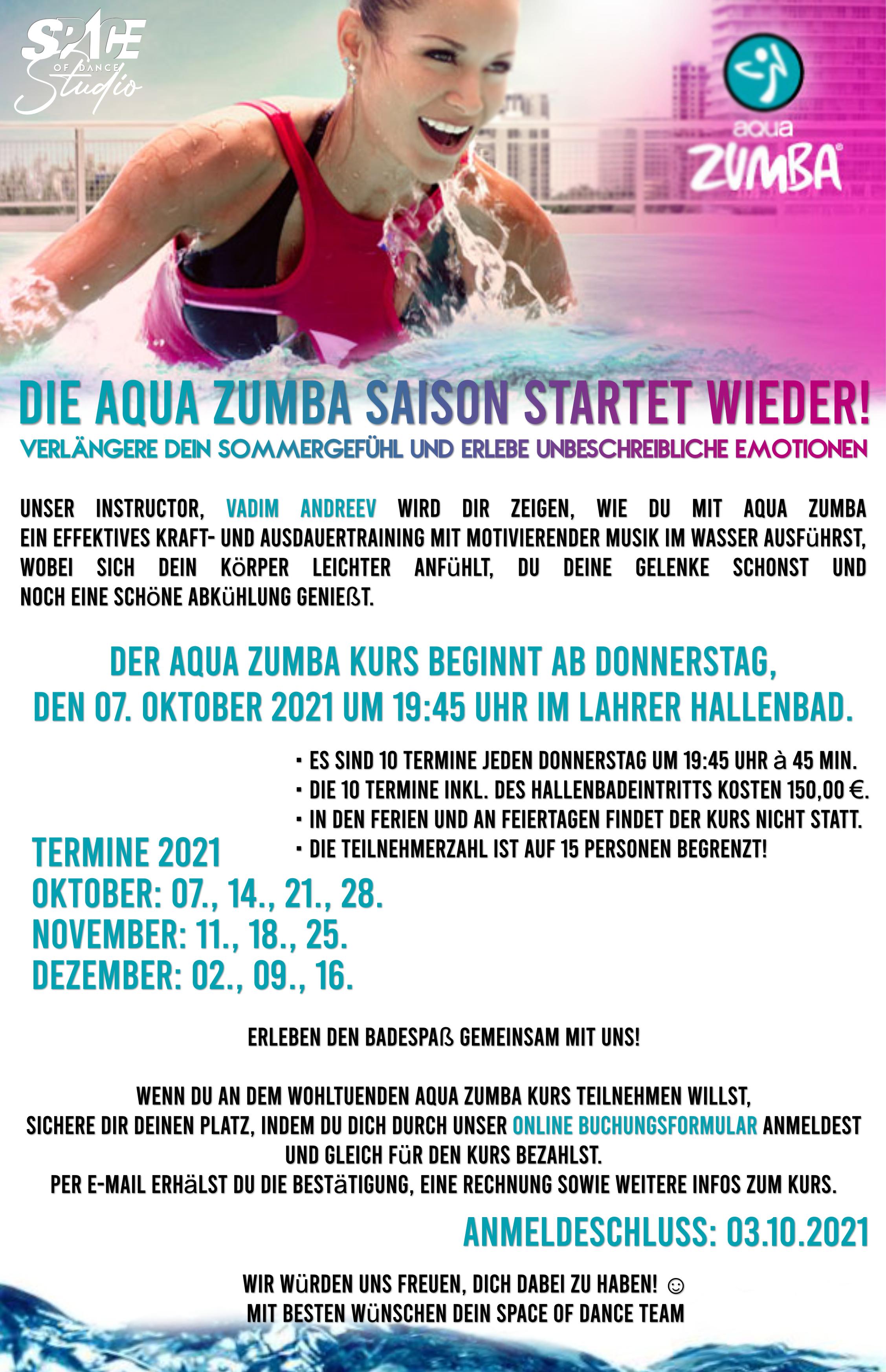 Aqua Zumba Werbung